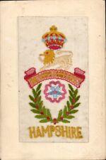 World War 1 Regimental Silk. The Hampshire Regiment.