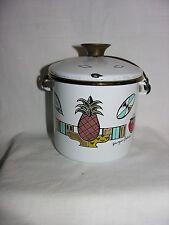 Vtg Georges Briard Ambrosia Pineapple Enamel Ware Pot Enamelware Mid-Century