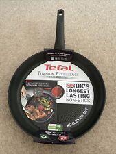Tefal Titanium Excellence 32cm Frypan UK's Longest Lasting Non-stick, Thermospot