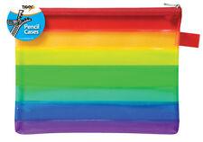 Rainbow A5 Flat Zip Bag Document Wallet Folder Storage Pencil Case