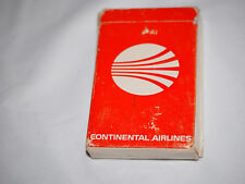 Vintage CONTINENTAL AIRLINES PLAYING CARDS in original box