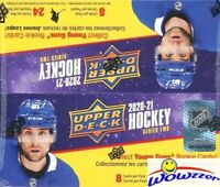 2020/21 Upper Deck Series 2 Hockey Sealed 24 Pack Retail Box-6 YOUNG GUNS ROOKIE