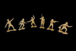 WWII British Infantry Marx flexable resign 6 in 6 poses toy soldiers 1:32 scale