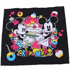 Girl Kids Children Disney Mickey Minnie Mouse Cotton square Handkerchief Bib