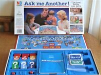 ASK ME ANOTHER!  VINTAGE BOARD GAME. MB 1983 FAMILY FUN GAME CONTENTS COMPLETE