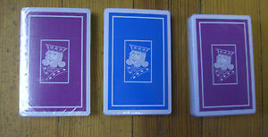 Vintage set of (3) Complete sets of Belgian Playing Cards (ALL SEALED-NEW)
