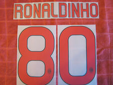 KIT RONALDINHO 80 ROSSONERO X MAGLIA CALCIO MILAN NUOVO STILSCREEN NEW