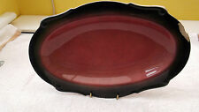 CARLTON WARE ROUGE ROYALE SHAPED 0VAL DISH    WITH A LARGE CHIP