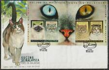 MALAYSIA 1999 Cats in M'sia MS FDC