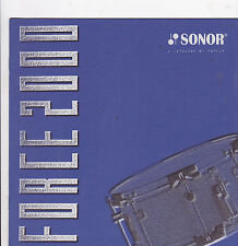 VINTAGE MUSICAL INSTRUMENT CATALOG #10505 -  SONOR DRUMS - FORCE 2000