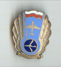 LOT Polish Airlines Flying 1 Million KM Old PILOT Badge