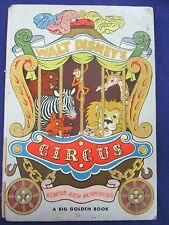 Walt Disney's Circus, Big Golden Book, fuzzy flocked pages elephants vintage