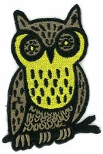NIGHT OWL iron on/sew on Embroidered Patch Applique DIY (US Seller)