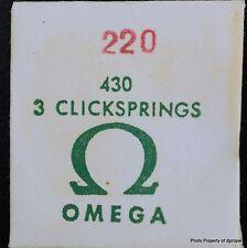 Vintage ORIGINAL OMEGA Click Spring #1105 for Omega Cal. 220!