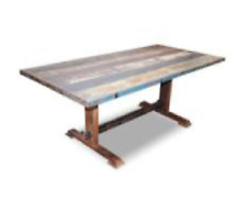 Mesa para salon comedor, mesa de salon vintage industrial de madera maciza