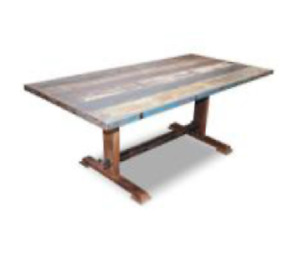 Mesa para salon comedor, mesa de salon vintage de madera maciza de mango