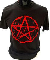 Pentagram T-Shirt SCREENPRINTED S-2XL Rock Goth Punk Metal Gothic Emo mens women