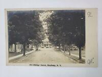 1907 RPPC Bridge Street Roxbury New York NY Postcard Real Photo Post Office