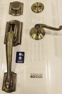 Schlage F93 CAM 609 ACC Dummy Handleset Accent Lever Antique Brass- Test