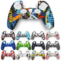 Silicone Handle Protective Shell Camouflage Case for PlayStationPS5 Controller