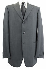HUGO BOSS Solid Three Button 100% Wool Suits for Men