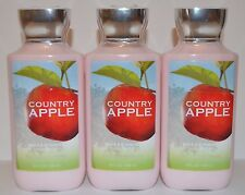 LOT OF 3 BATH & BODY WORKS COUNTRY APPLE LOTION CREAM HAND SHEA BUTTER SIGNATURE