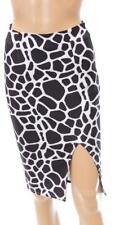 Polyester Straight, Pencil Knee-Length Regular Skirts for Women