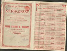 TRAMWAYS ÉLECTRIQUES DE SARAGOSSE (ESPAGNE BELGIQUE) (X)