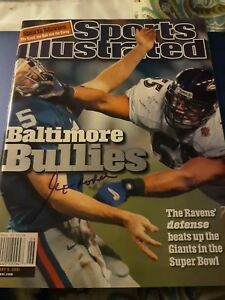 Art Modell Signed 2001 Sports Illustrated Ravens SB35 Autograph Cleveland Browns