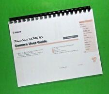 Canon SX740 HS Power Shot Full Camera 130 Pg LASER 8.5 x 11