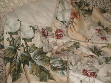 SHABBY COTTAGE WAVERLY MAGNOLIA BED SKIRT SHAMS QUEEN PARIS CHIC