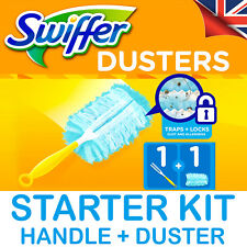 Swiffer Fluffy Dusters: Starter Kit (Handle + 1 Refill) - UK STOCK - Pledge alt