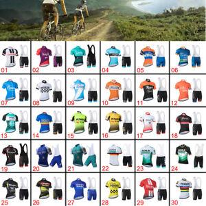 2021 Team Cycling Kit Bike Clothing Short Sleeve Jersey Padded 3D Gel Bib Shorts