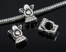 8/30/150pcs Tibetan Silver Bulk Lots big Angel European Jewelry Charms Beads