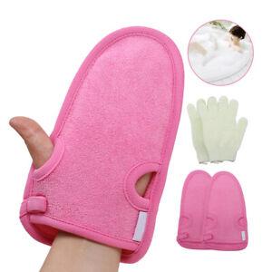 Körperpeeling Peeling Handschuh für Badeschwamm Dusche