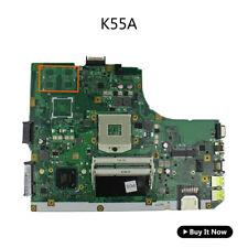 For ASUS K55A Laptop Motherboard K55VD U57A REV 3.0 Main Board HM76 2 RAM slots