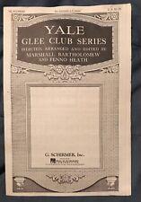 Yale Glee Club Series De Animals a-Comin' Sheet Music