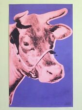 "Andy Warhol Foundation Lithograph Print Pop Art Poster ""Cow Pink & Purple"" 1976"
