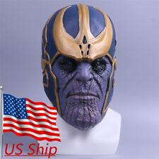 Cosplay Avengers Infinity War Thanos Mask Latex Halloween Mask Adult Handmade