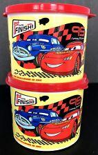 Tupperware Kids Canisters Disney Pixar Cars Movie 2 Cup Capacity Set of 2 New