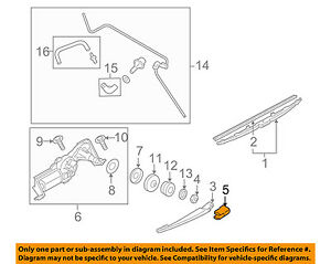 SUBARU OEM 06-09 Forester Wiper Washer-Lift Gate-Wiper Arm Cover 86538AG080