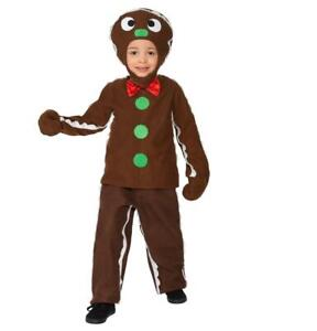 Little Gingerbread Man Child Christmas Fancy Dress Party Costume