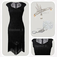 1920s Flapper Dress Gatsby Inspired Embellished Beaded Lace 20s Cocktail Costume