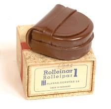 ROLLEIFLEX  ROLLEINAR ROLLEIPAR 1 Bay III Empty Leather  Case and BOX
