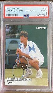 2003 Netpro Rafael Nadal Parera #70 PSA 9 Mint Rookie RC non glossy