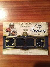 2008 Upper Deck TONY ROMO Ultimate Seasons On Card Autograph Jersey # 09/15