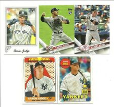 Lot of 5 Different Topps, Gallery, Heritage Aaron Judge Cards 2017-2018 3-RC's