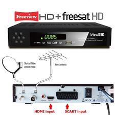 FULL HD COMBO Freeview HD & Free Satellite HD Receiver TV Set Top Digi Box T2+S2