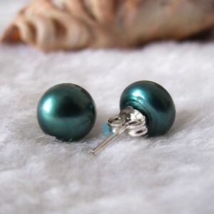9.0-9.5mm Freshwater Pearl Earrings Stud Earrings UK——MORE COLORS