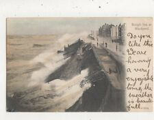 Rough Sea At Blackpool 1903 Hartmann Postcard 052b